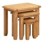 Monchique Oak Nest of 3 Tables