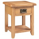Monchique Oak Small Lamp Table
