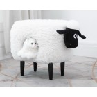 Sheep Stool with Cat Hole