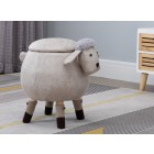 Sheep Round Storage Stool (Grey)