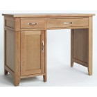 Camberley Oak Single Pedestal Computer Desk