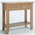 Camberley Oak Small Console Table with 2 Drawers.