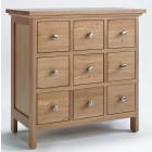 Camberley Oak DVD and CD Storage Unit 9 Drawers