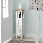 Clifton Oak Painted Open Top Tower Cabinet