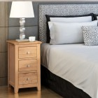 Hereford Oak Small Bedside Table