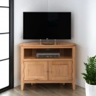 Hereford Oak Small Corner TV Unit
