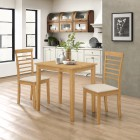Ledbury Small Dining Table with 2 Chairs in Light Oak Finish