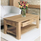Mobel Oak Four Drawer Coffee Table