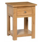 Waverly Oak Lamp Table With Drawer
