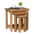 Waverly Oak Nest of 3 Tables