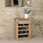 Mobel Oak Wine Rack Lamp Table