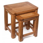 London Rustic Oak Nest of Two Tables