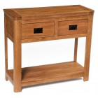 London Rustic Oak Console Table