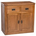 London Oak 2 Door 2 Drawer Sideboard